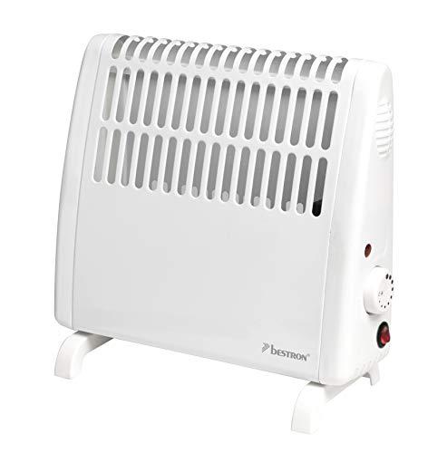 Bestron Frostwächter, Freistehend oder Wandmontage, Spritzwassergeschützt, Thermostat, Inkl. Wandbestigungsset, 400 Watt, Weiß