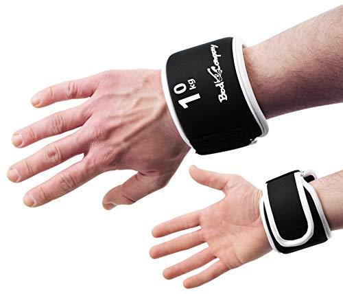 Bad Company Gewichtsmanschetten I Gewichte für Hand und Fuß in verschiedenen Gewichtsstufen I 1 kg, schwarz