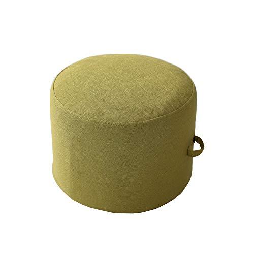 CNZXCO Zafu Yoga Runde Meditation Kissen, PEP-füllung Tatami Boden futon Kissen Waschbar, Entfernbar Doppelschicht- Leinen Kissen Abdeckung-Grün Diameter 40cm Tall 25cm -