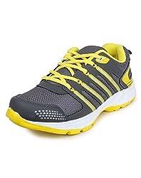 Beonza Mens Walking Mesh Grey Sports Shoes-7