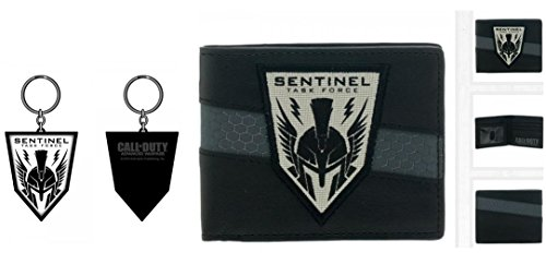 Call of Duty Sentinel Task Force Bundle - 2 items : 1 bifold leather wallet and 1 rubber keychain by Call of Duty