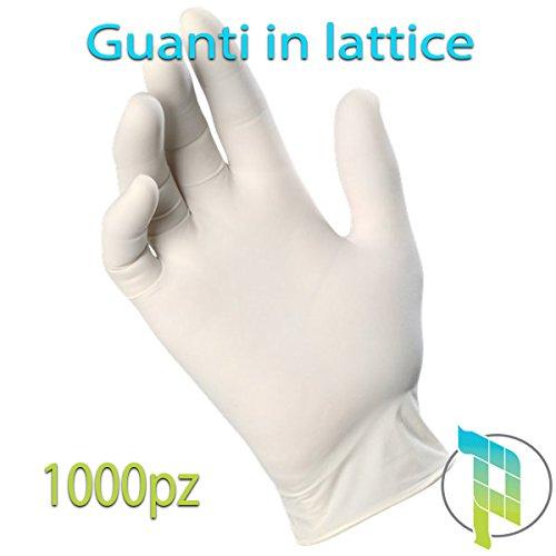 guanti senza lattice Palucart® Guanti lattice monouso 1000 pz taglia M guanti in lattice 100 pezzi x 10 confezioni resistenti latex guanto medico bianco