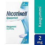 Nicotinell Kaugummi 2 mg Spearmint (beliebter Spearmint-Geschmack), 24 St. – Für die schrittweise Raucherentwöhnung und den sofortigen Rauchstopp geeignet
