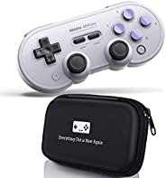 Geek Theory 8Bitdo SN30 Pro Bluetooth Gamepad (SN Edition) Bundle - Includes Bonus Carrying Case - Switch, PC,