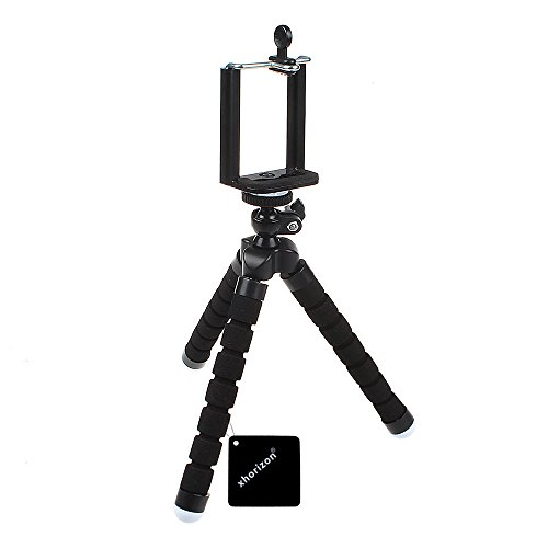 Price comparison product image Flexible Mini Tripod, xhorizon(TM)XH8 Lightweight Octopus Style Compact Portable and Adjustable Tripod Stand with Mount Holder for Smartphone,  Camera,  Webcam,  Mobile Cell Phone -Black