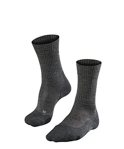 FALKE TK2 Wool Damen Trekkingsocken / Wandersocken - grau, Gr. 37-38, 1 Paar, Merinowolle, mittelstarke Polsterung, wärmende Wirkung