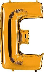 Grabo 242G-P Letra E Globo Superloon paquete individual, largo-40 pulgadas, color, oro, talla única