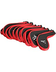 SaySure - 10 Golf Club Iron Putter HeadCovers Protector Set