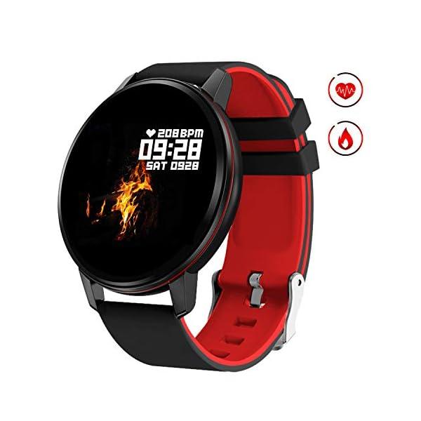 Smartwatch Deporte para Mujer Hombre con Pantalla Completa Táctil Monitores de Actividad Impermeable Outdoor Fitness… 1