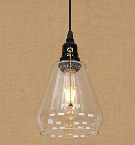 OIASD Abat-Jour en Verre rétro Lampe tombante Lampe à glissière créative commutateur E27 café Salon Salle d'étude décoration Petit Lustre rétro lumière
