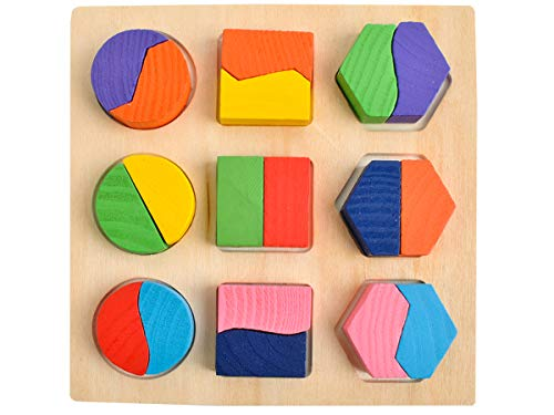 ISO TRADE Puzzle with Geometric Blocks Figures Color Educational Toys 6827