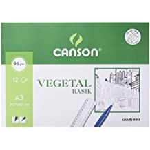 Guarro Canson 200400787 - Papel vegetal, 12 hojas, A3, 90 g