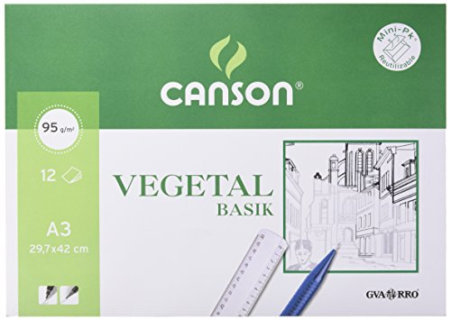 Canson 400787 - Papel Vegetal, 12 Hojas