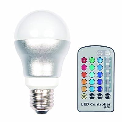 Farbwechsellampe mit IR-Fernbedienung; E27; 1-5 Watt, Neues Design, gleiche Qualität von LEDs CHANGE THE WORLD bei Lampenhans.de