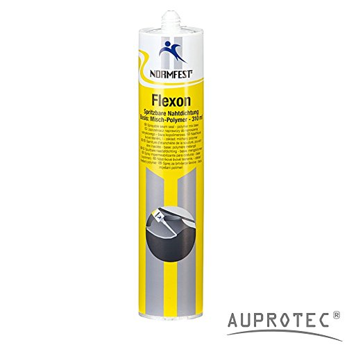 Preisvergleich Produktbild Auprotec® Normfest 1K Karosserie Dichtmasse spritzbar Nahtabdichtung Flexon Ultra grau (1 Kartusche)