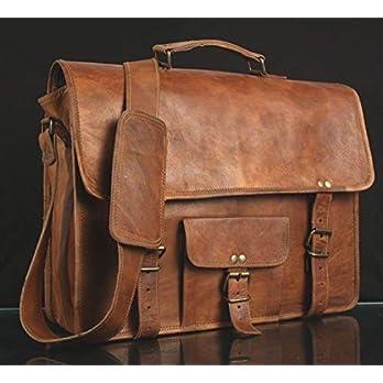Mens-Genuine-Vintage-Leder-Satchel-Messenger-Man-HandBag-Laptop-Aktenkoffer-Tasche