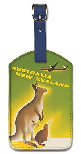 Pacifica Island Art Kofferanhänger Gepäckanhänger Kunstleder Bag Tags - Australia New Zealand von Peter Ewart -