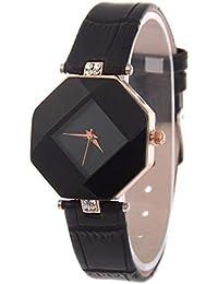 Reloj Elegante de Las Mujeres del Reloj del Reloj del Reloj del Cuarzo de la Correa de Cuero del Reloj del Reloj del Corte…