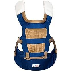 Emma & Noah Porte-bébé dorsal / ventral, Conception ergonomique / physiologique adaptée aux besoins de l'enfant et des parents (âge recommandé de 6 à 36 mois), Couleur: bleu, Sac à Dos Porte-bébé