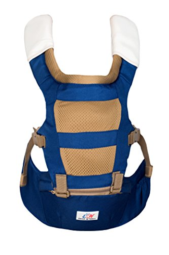 Emma & Noah Babytrage, ergonomisch für Kind und Eltern, 4-in-1 Trage, empfohlen von 6-36 Monate, Kindertrage, Baby-Tragegurt, Baby Carrier, Baby-Tragetasche, Hüftsitz, Hip Seat