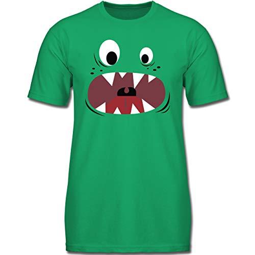 Karneval & Fasching Kinder - Monster Kostüm Gesicht - 116 (5-6 Jahre) - Grün - F130K - Jungen Kinder - Baby Jungen Monster Kostüm