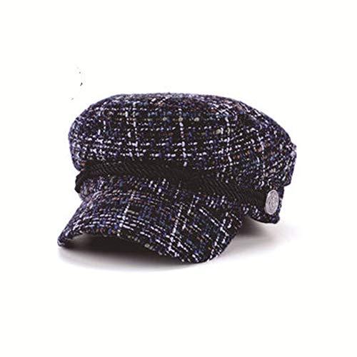 GSCshoe Vintage eleganter Hut Weinlese-Barett-Maler-Hut-Hanf-Hut-weibliches schwarzes Goldsamt-Achteck-Hut Unisex (Farbe : ()