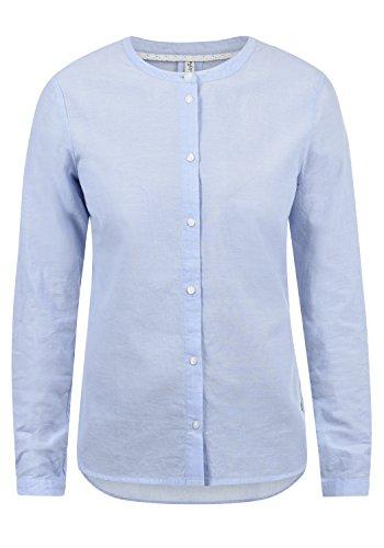 BlendShe Alexa Damen Lange Bluse Hemdbluse Langarm Mit Streifen-Muster Und Rundhals Aus 100% Baumwolle Loose Fit, Größe:XL, Farbe:Chambray (20257) - Calvin Klein-loose-fit-jeans