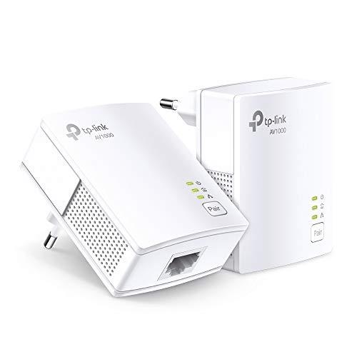 TP-Link TL-PA7017KIT AV1000 Gigabit Powerline Adapter (1x Gigabit Port, Plug und Play, energiesparend, kompatibel zu allen gängigen Powerline Adaptern) weiß