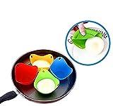 Xelparuc silicone Egg Poacher–Set di 6tazze di cottura perfetto uova in camicia–microonde o Stovetop uovo fornello (colore casuale)