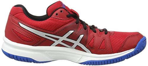 Asics Gel-upcourt Gs, Chaussures de Volleyball Mixte adulte Rouge (fiery Red/silver/electric Blue 2393)