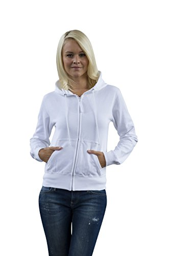 JH055 Girlie Zoodie Sweatjacke Sweatshirt Jacke Arctic White