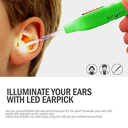 Anaaya Ear Pick with LED Light Earwax Cleaning and Removal Tool with 3 Sizes