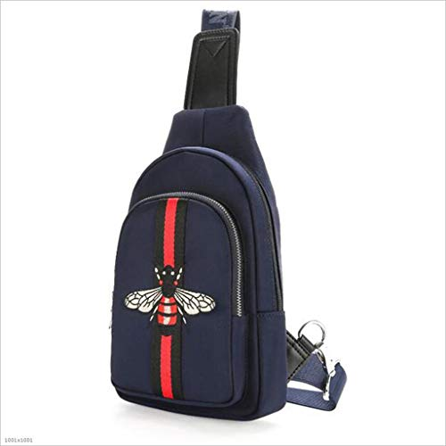 DABUOT Männer Es Erwachsenen Rucksack Anti-Diebstahl Brusttasche Schlingen Beutel Verstellbaren Schultergurt,Blue -