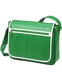 HALFAR - sac rétro sacoche bandoulière étudiant imitation cuir 1807541 - vert - mixte homme/femme