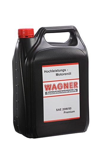 WAGNER Hochleistungsmotoröl SAE 20W/50 Premium mineralisch – 023005 – 5 Liter