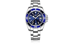 Blenheim London Navigator Luminous Sapphire Glass Mens Watch (Blue)