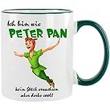 """'""""Estoy Como Peter Pan Taza de café con diseño, impresa Taza con frases o imágenes"""