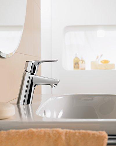 Hansgrohe – Waschtischarmatur, Push-Open Ablaufgarnitur, QuickClean, EcoSmart, Chrom, Serie Focus 70 - 3
