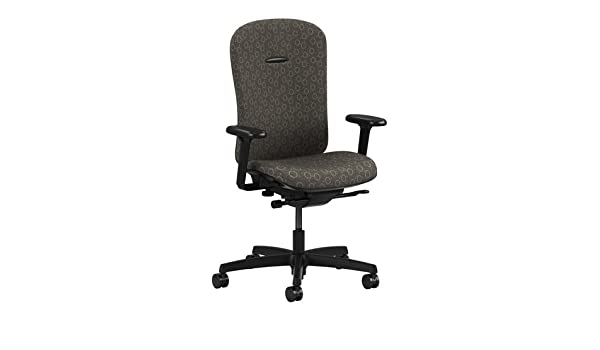 mirus series mid back office chair with arms finish onyx gio