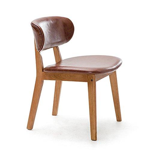ZHANGRONG- Chaises en bois massif à manger chaise adulte fauteuil enfant -Tabouret de canapé (Couleur : Marron clair, taille : 1001)