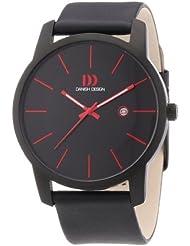 Danish Design - 3314432 - Montre Homme - Quartz Analogique - Bracelet Cuir Noir