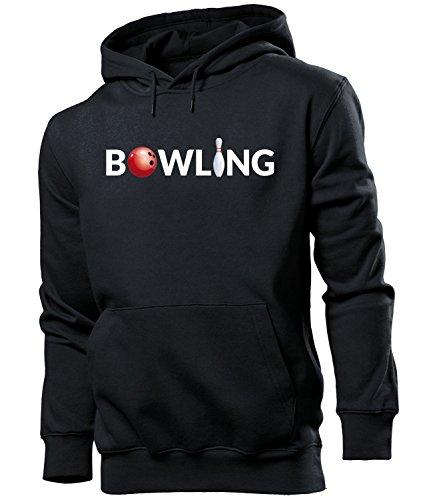 BOWLING 5929 Herren Hoodie (HKP-SW) Gr. M (Bowling Baumwolle Sweatshirt)