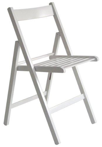 """""""Maison"""" sedia pieghevole listellare 100% FSC bianco"""