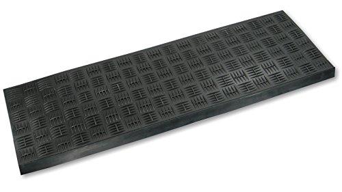 Stufenmatte aus Gummi/Gummi-Stufenmatte Riffelblech-Optik schwarz