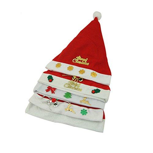Set de 3 de Noël Chapeau Chapeau de Père Noël pour Noël, Style de hasard