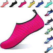 Aqua Shoes Escarpines Hombres Mujer Niños Zapatos de Agua Zapatillas  Ligeros de Secado Rápido para Swim 27b8edee301