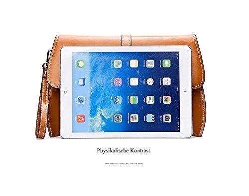 MicBridal® Frühling Leder Envelope Clutch Abendtasche Handtasche 30X20X5cm(B x H x T) Gelb