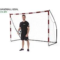 QUICKPLAY Portable Handball Goal – Ultra Portable Indoor & Outdoor Handball Goal Features Weighted Base | Endorsed by the European Handball Federation [Single Goal]