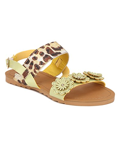 Yepme Women's Yellow Synthetic Sandals - YPWFOOT9675_5  available at amazon for Rs.299