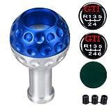 JenNiFer 5/6 Gang Schaltknauf Mit 8/10 / 12Mm Adapter Aluminium Universal Für Vw Scirocco/Jett/Golf - Blau